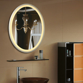 Ss Frame Oval Led Bathroom Mirrors With Touch Switch Bluetooth And Clock
